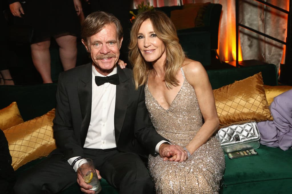 Felicity Huffman and her husband William H. Macy reportedly made a donation of $15,000 to get their eldest daughter through a college entrance exam through a cheating scheme (Getty Images)