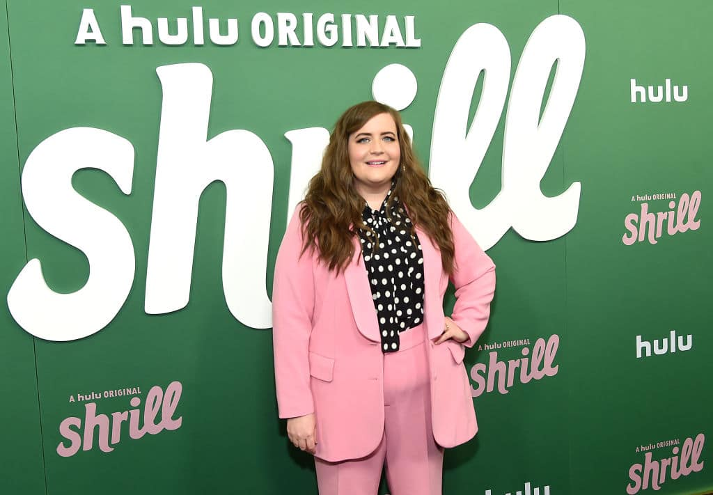 Aidy Bryant attends Hulu's 'Shrill' New York Premiere at Walter Reade Theater on March 13, 2019, in New York City. (Photo by Jamie McCarthy/Getty Images)