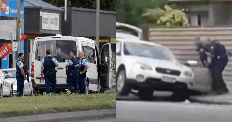 Christchurch Shooting Footage Detail: New Zealand Mosque Shooting: Footage Shows Moment Hero Cop