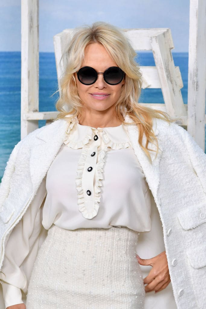 Pamela Anderson attends the Chanel show as part of the Paris Fashion Week Womenswear Spring/Summer 2019 on October 2, 2018 in Paris, France. (Photo by Pascal Le Segretain/Getty Images)