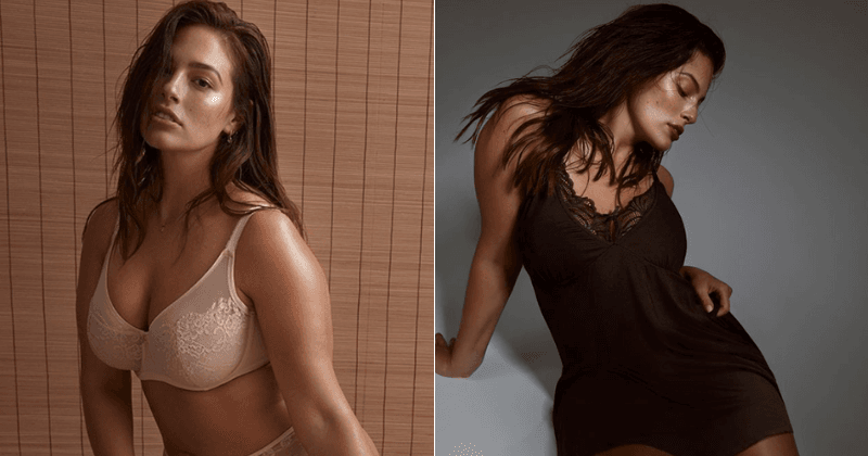 Ashley Graham flaunts her stunning curves as she dons racy lingerie for new Addition Elle campaign