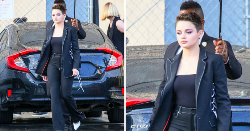 Best Dressed: Joey King nails androgynous chic in a structured blazer and flared denim