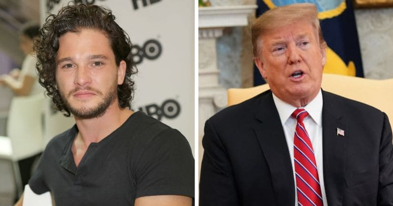 """Kit Harington compares Donald Trump to 'mad king' Joffrey, says we're living in a """"Thrones-like world"""""""