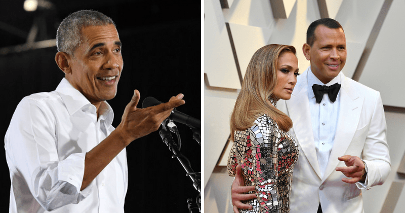 Former President Barack Obama congratulates Alex Rodriguez and Jennifer Lopez on engagement with handwritten note