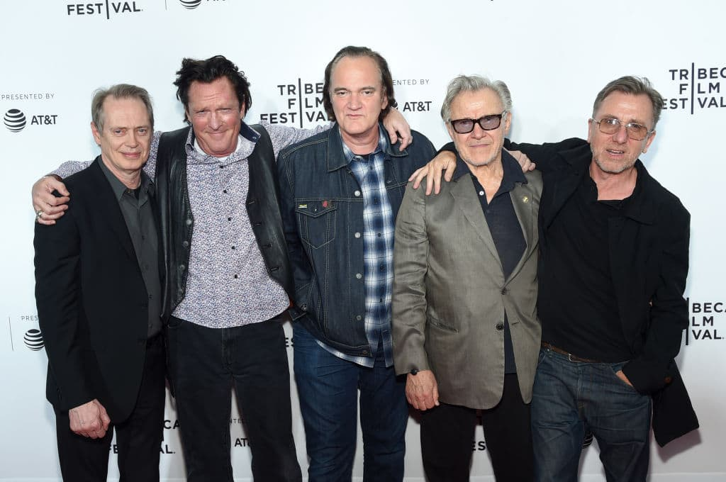 Steve Buscemi, Michael Madsen, Quentin Tarantino, Harvey Keitel and Tim Roth attend the 'Reservoir Dogs' Screening during 2017 Tribeca Film Festival on April 28, 2017 in New York City (Getty Images)