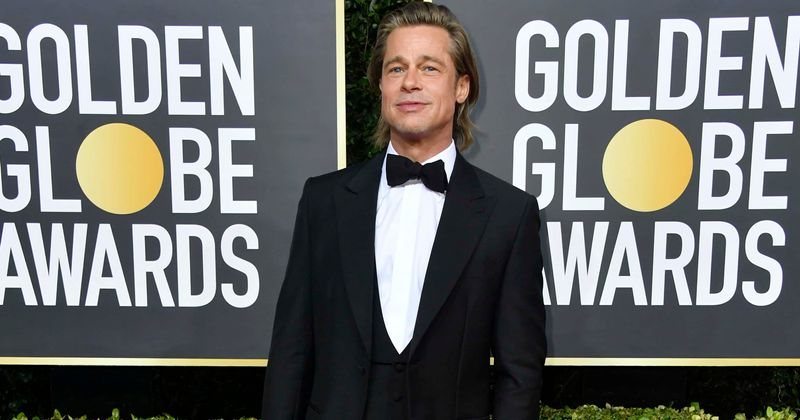 Image result for picture of brad pitt at golden globe 2020