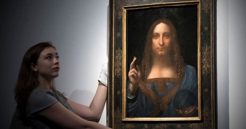 It's auction season, and all eyes are on this controversial Da Vinci painting...but how much is it worth?