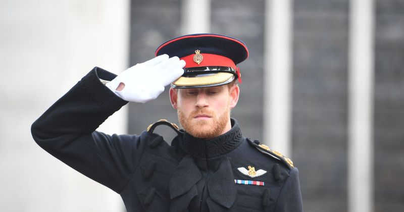Prince Harry breaks major rule during Remembrance Sunday event