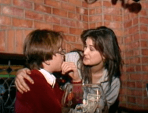 Creepy flashback video shows married demi moore french for Classic house french kiss
