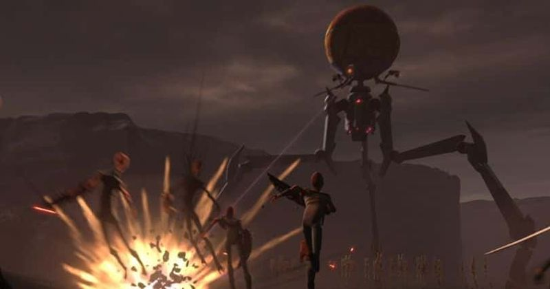 Star Wars The Clone Wars Season 7 Episode 3 Features Brilliant Visuals And A War Of The Worlds Style Droid Meaww