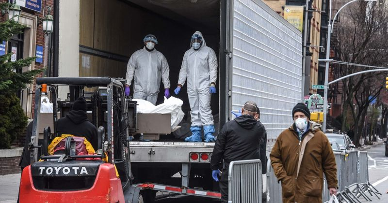 Pentagon on the hunt for 100,000 body bags as experts predict coronavirus may claim over 200,000 lives