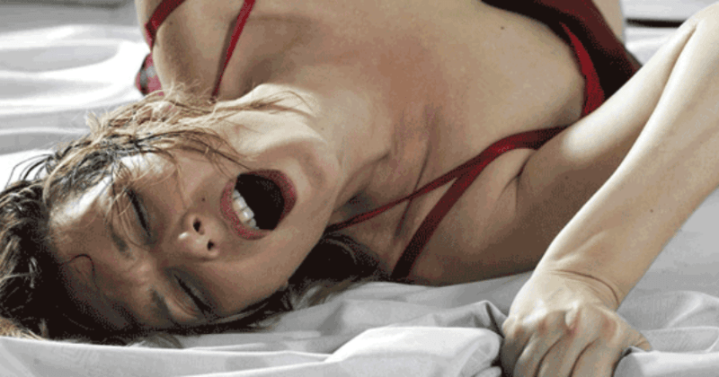 Picture of woman manipulating her vagina