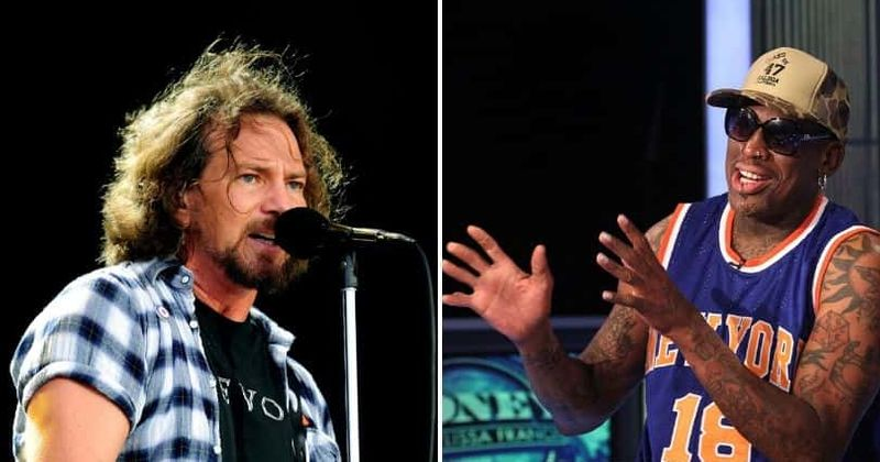 Eddie Vedder says Dennis Rodman dragged him to Las Vegas for a 'relaxing' time at Jane's Addiction concert