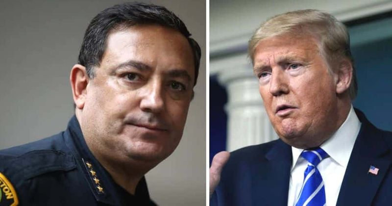 George Floyd protests: Houston top cop tells Trump to shut up if he doesn't have anything constructive to say
