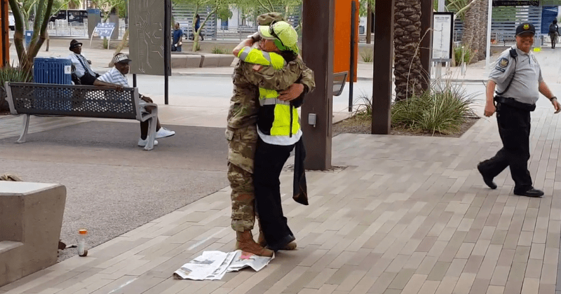 Watch: Heartwarming video of returning soldier greeting his mom at her work place