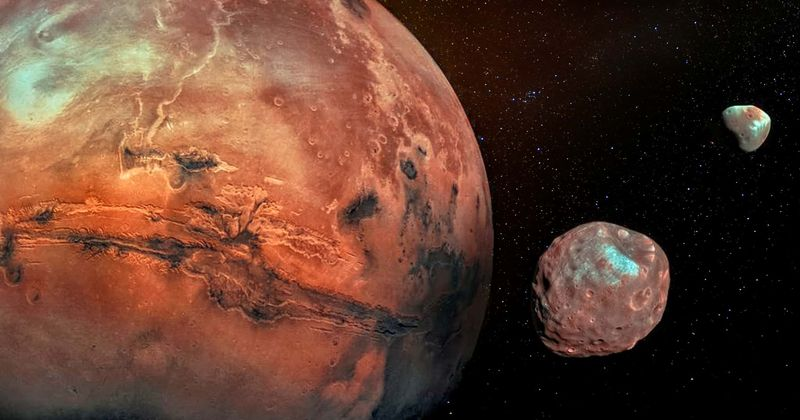 Mars had a bigger moon that formed a ring around the Red Planet billions of years ago, suggests new evidence