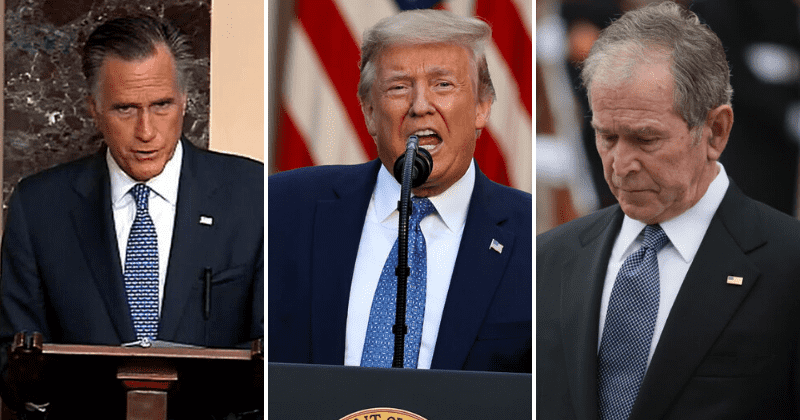 George W Bush and Mitt Romney won't back Trump's re-election, some GOP leaders plan to support Biden
