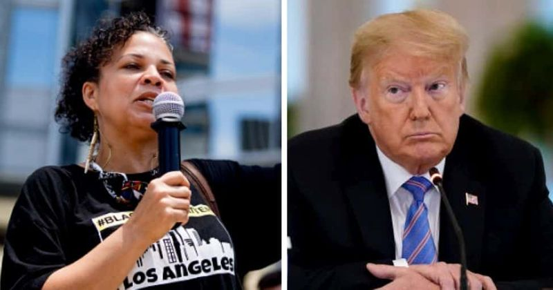 Trump is 'the embodiment of white supremacist terrorism,' BLM co-founder slams 'hypocrite' POTUS for hate remark