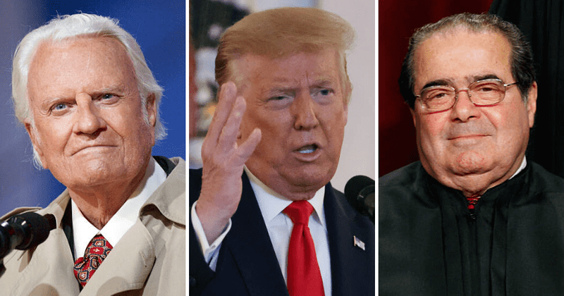 Trump proposes statues of 'racist' Antonin Scalia, Billy Graham, Angry Internet says 'throw Putin in there too'