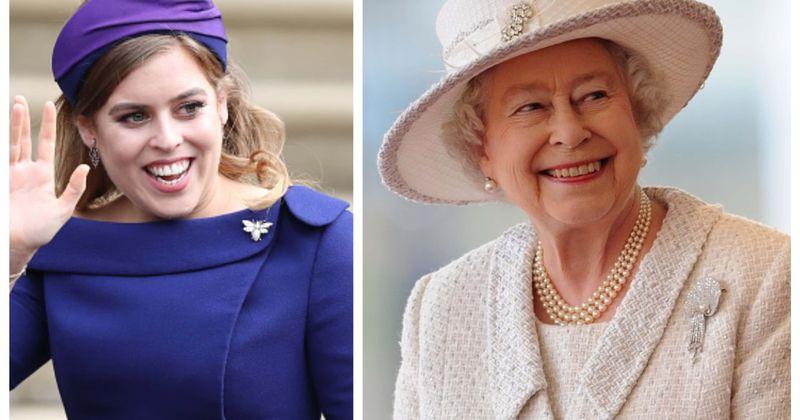 Princess Beatrice Wears Queen Elizabeth S Dress And Tiara On Her
