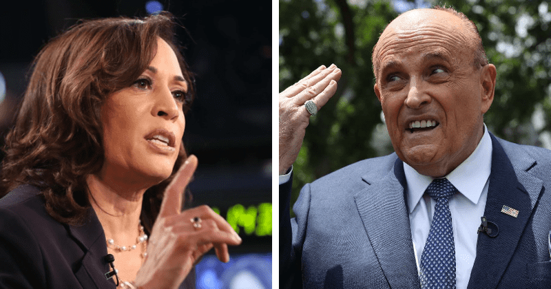 Rudy Giuliani S Daughter Caroline Tweets Picture With Kamala Harris Urges Supporters To Remove Trump Meaww