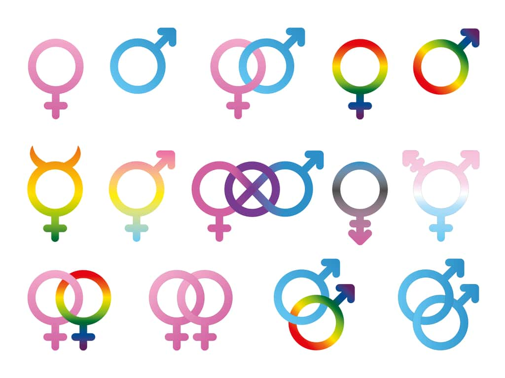 A beginners guide to gender identity and sexual orientation terms gender symbols source shutterstock buycottarizona Choice Image