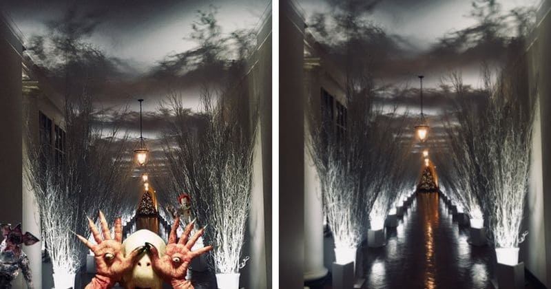 most hilarious reactions to melania trumps creepy christmas decorations at the - Trump Christmas Decorations