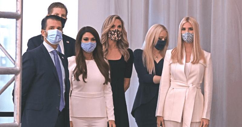 Ivanka poses for selfie with Trump ladies in masks ahead of prez debate, Internet likens it to 'a Klan rally'