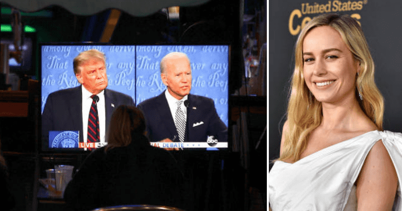First Presidential Debate 2020: Trump-Biden face-off divides celebs, Brie Larson says 'use remote for well-being'