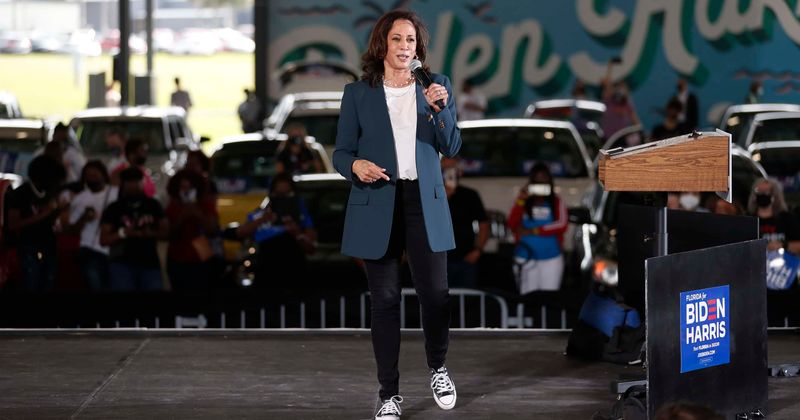 Kamala Harris dances in Florida rain wearing Converse sneakers, Internet feels 'proud to call her future VP'