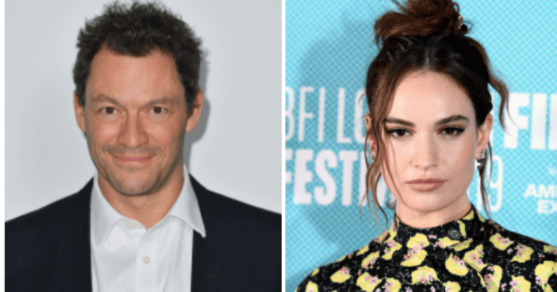 Is Lily James a victim of sexism? Dominic West is all smiles as actress forced to cancel events over steamy pics