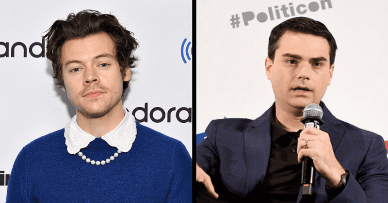 ben shapiro s meltdown over harry styles wearing dress in vogue cover makes internet call him f ing dweeb meaww ben shapiro s meltdown over harry