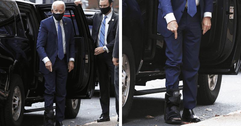 QAnon backers claim Biden's medical boot is hiding an ...