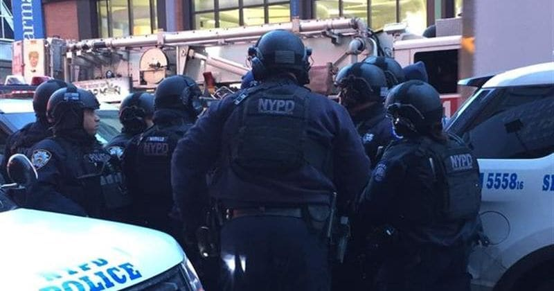 New York police flood Manhattan after explosion rocks bus terminal