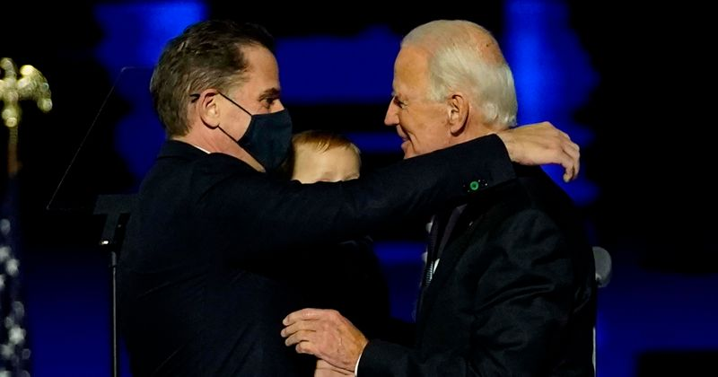 Joe Biden looks relaxed as he spends time with son Hunter ...