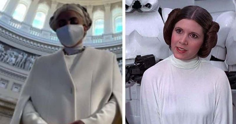 Did Lady Gaga channel Princess Leia for Joe Biden's inauguration? Fans say she has come to 'end the evil empire'