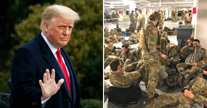Donald Trump invites National Guardsmen to stay at his DC hotel after they were forced to sleep in garage
