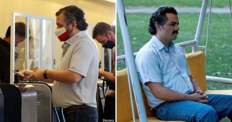 Ted Cruz trolled as 'cheap' Pablo Escobar over Texas airport look, Internet calls drug lord a 'better person'