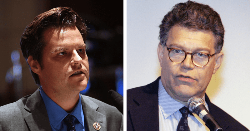 Why is Matt Gaetz being compared to Al Franken? Internet asks rep to resign as ex-senator did over 'groping' pic