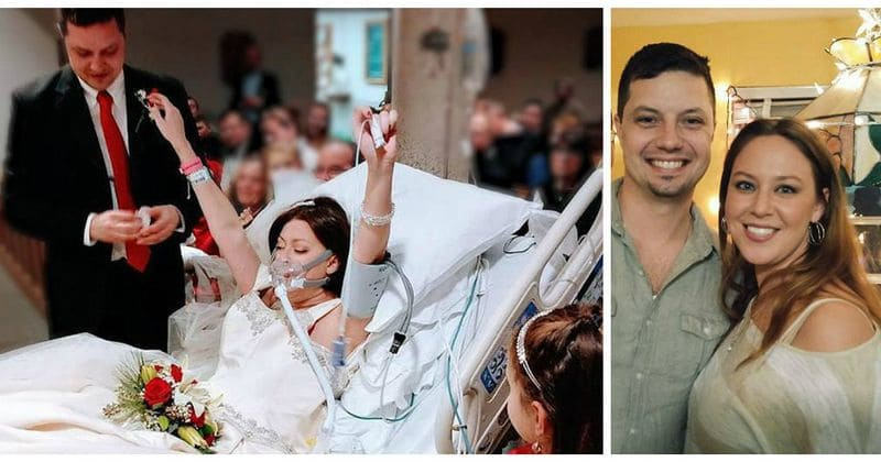 Last words of woman battling cancer are 'I do', as she dies just hours after exchanging vows