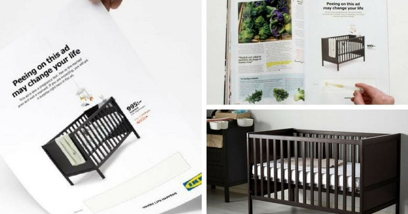 Ikea wants you to pee on their latest ad... and if you are pregnant you get a discount