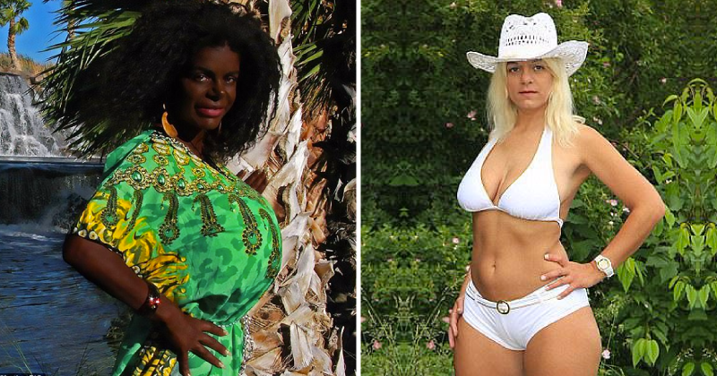 "Former glamor model Martina Big, who wants to be an African woman, now claims she has natural ""African hair"""