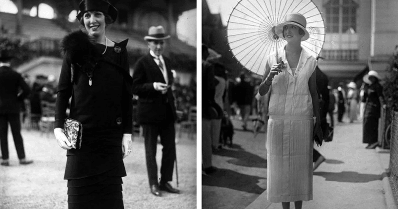 A sneak-peek into what women's street-fashion looked like in the 50s