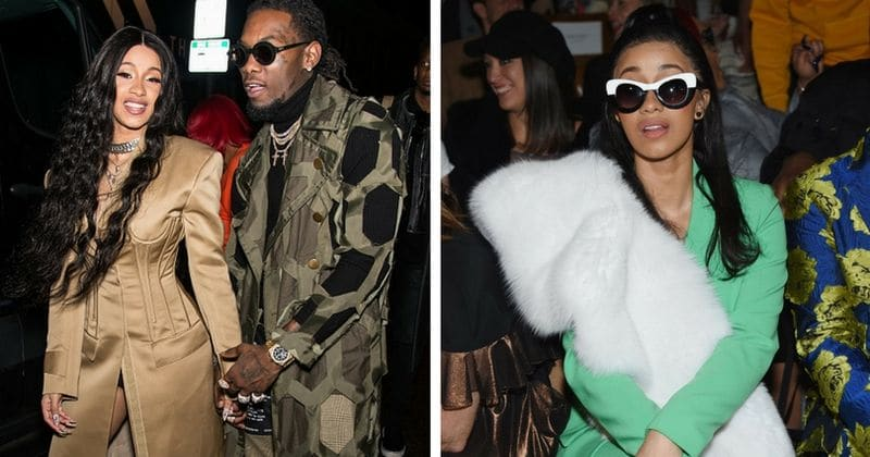 Cardi B slays it at NYFW, chin wags with Anna Wintour in front row